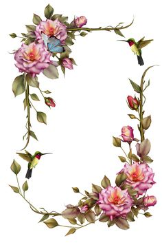 Flower border clipart png banner transparent library Free Printable Clip Art Borders | free digital flower frame png ... banner transparent library