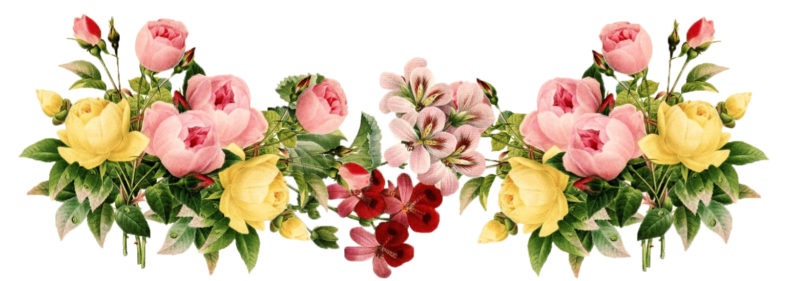 Free picture of flowers clip art transparent library Vintage Flowers Borders Clipart - Clipart Kid clip art transparent library
