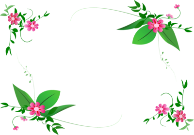 Flower border clipart png svg black and white stock Free Frames and borders png | flower-border-design-png-360.png ... svg black and white stock