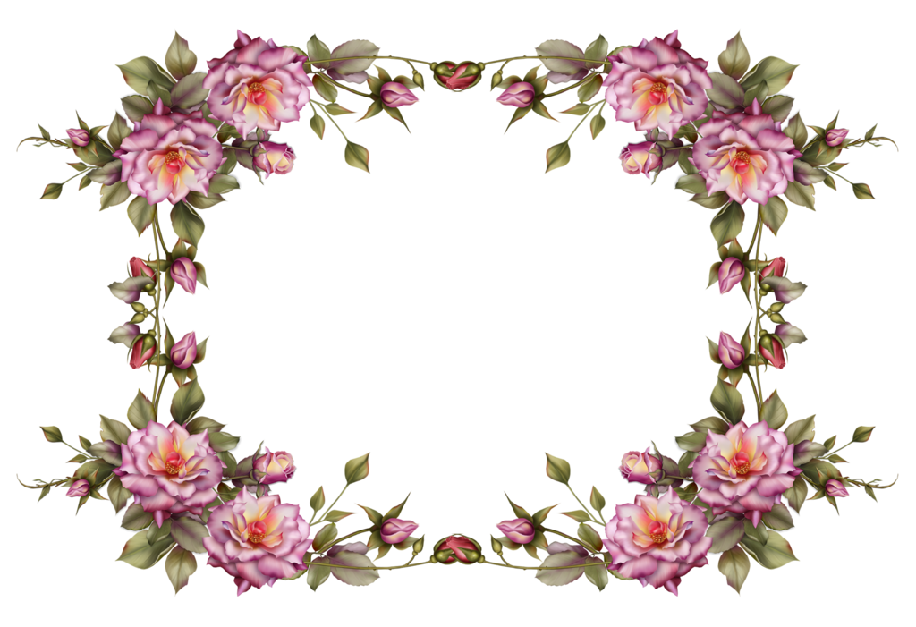 Download free images of flowers library Flower Frame Clipart - Clipart Kid library