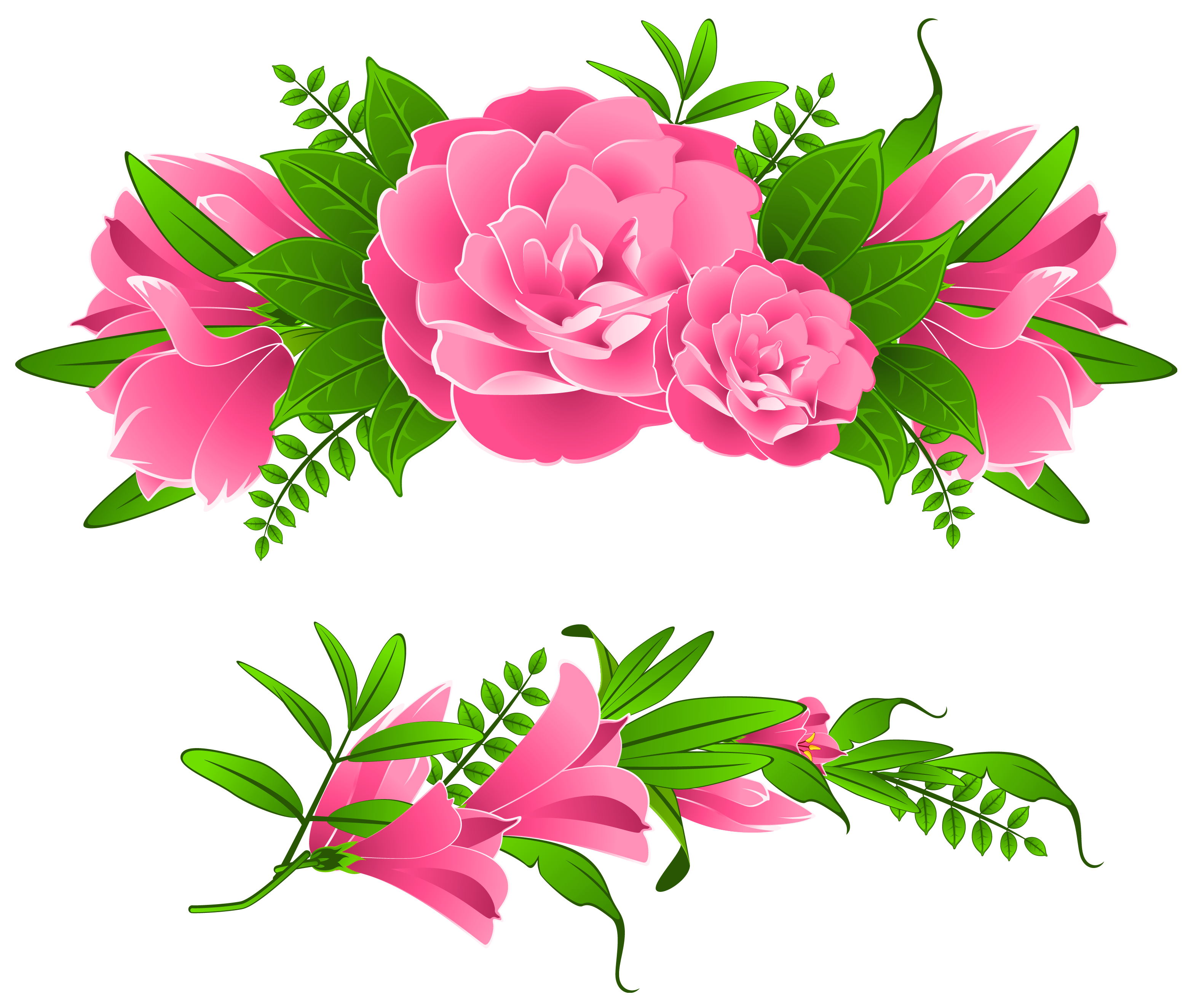 Free flower frame clipart freeuse download Flower Border Png | Free Download Clip Art | Free Clip Art | on ... freeuse download