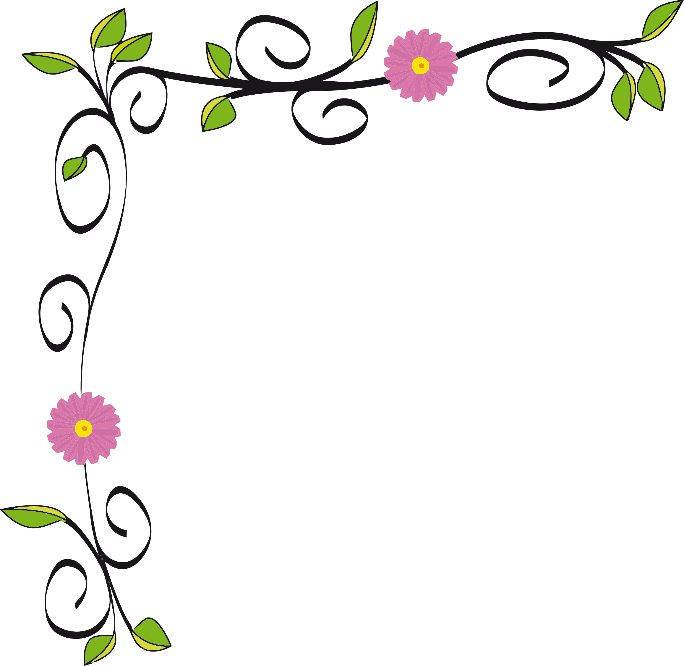 Floral vectorized by gdj. Flower border design clipart