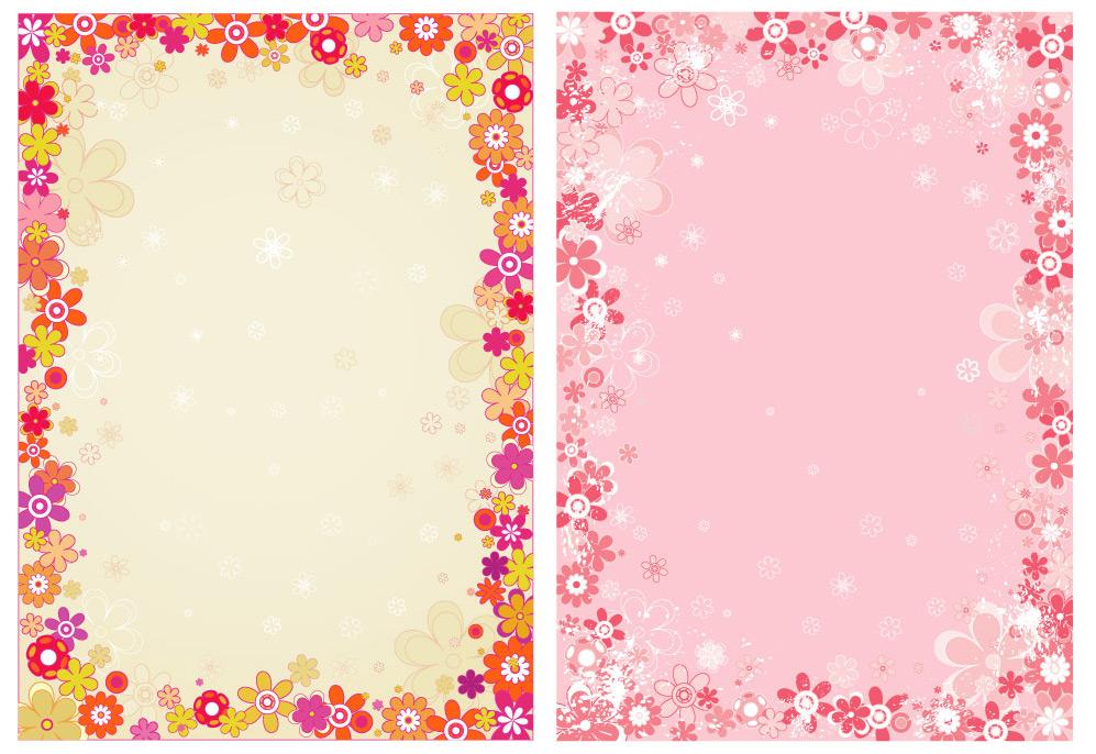 Flower border download clip art royalty free flower border vector - Vector Frames & Borders free download clip art royalty free