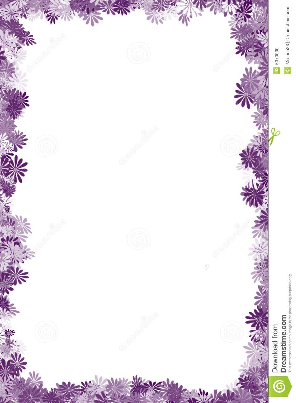 Flower border download image freeuse download Purple Flower Border Clipart - Clipart Kid image freeuse download