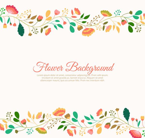 Flower border download clipart download Creative flower border background vector | Free download clipart download