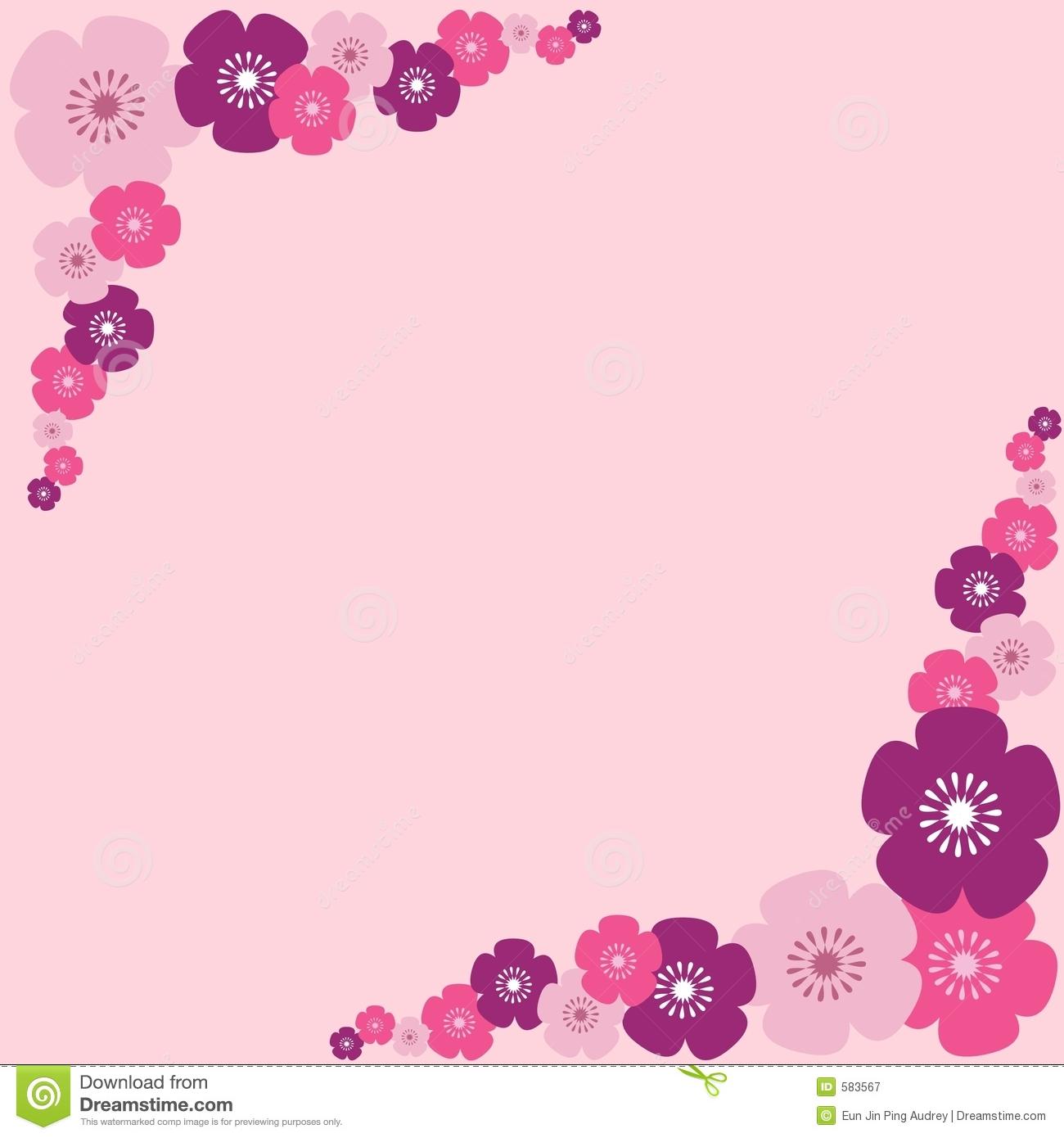 Flower border download image royalty free library Pink Flowers Border Stock Images - Image: 23914514 image royalty free library