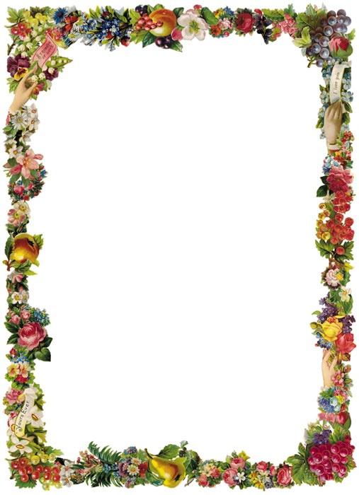 Flower border download svg free Victorian Flower Border Clipart svg free