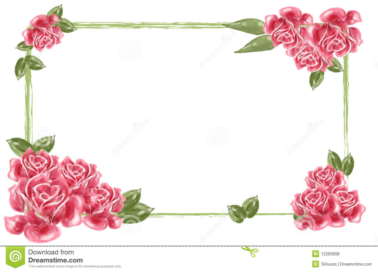 Flower border download freeuse library Red Flower Borders Clipart - Clipart Kid freeuse library