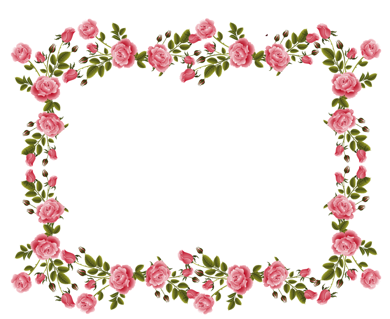 Free download flower border svg library download Border Frame Rose Flower free image svg library download