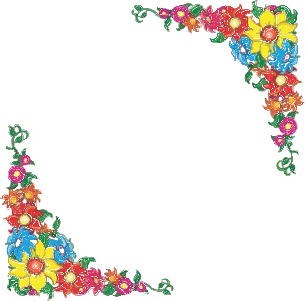Mexican flower border clipart svg black and white stock Flower Border Clipart At Picture - 5626 - TransparentPNG svg black and white stock