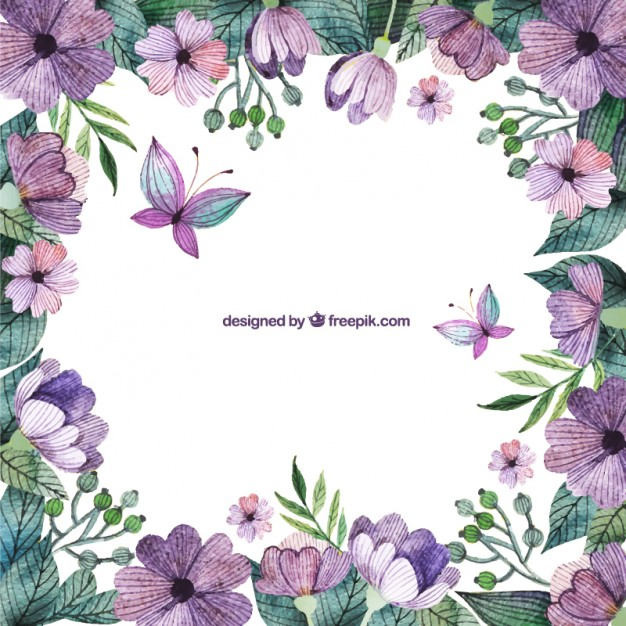 Flower borders free download picture transparent download Purple flowers border Vector | Free Download picture transparent download