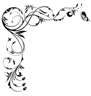 Flower borders free download clipart black and white download Floral borders free download - ClipartFest clipart black and white download