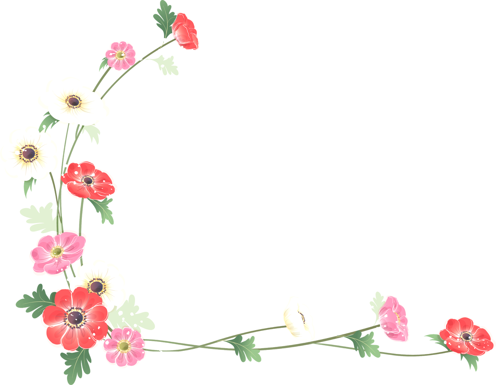 Flower borders free download picture library download Borders and Frames Flower Watercolor painting Clip art - flower ... picture library download