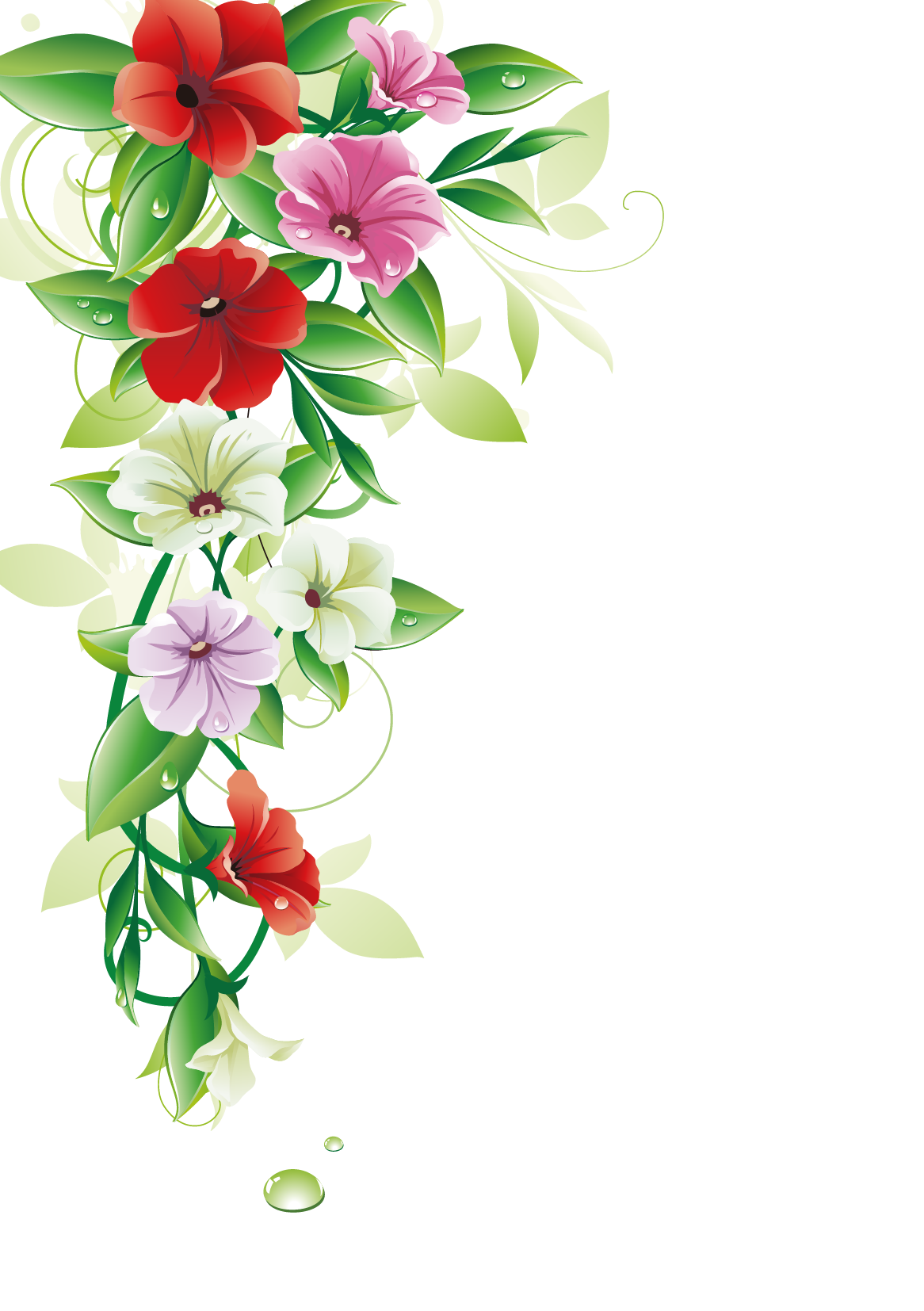 Flower bouquet border clipart picture royalty free library Flower Clip art - Flower Border 1166*1654 transprent Png Free ... picture royalty free library