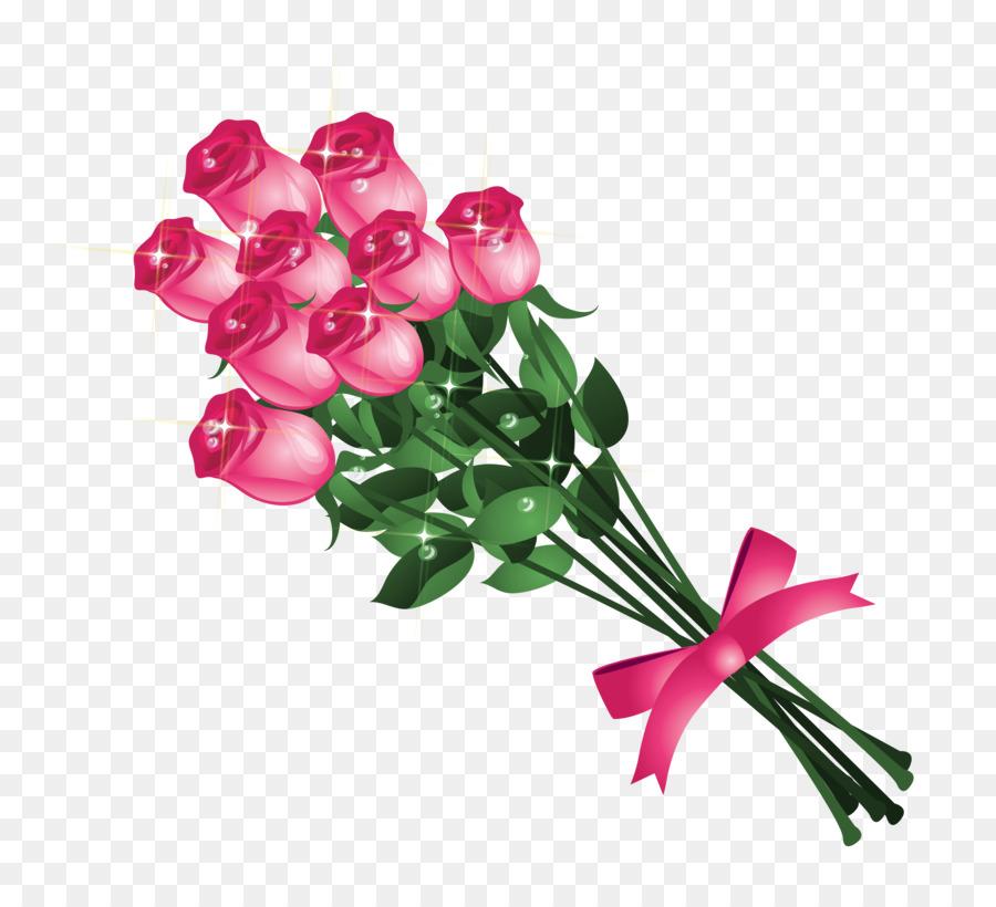 Flower bouquet clipart transparent png library download Free Flower Bouquet Transparent Background, Download Free Clip Art ... png library download