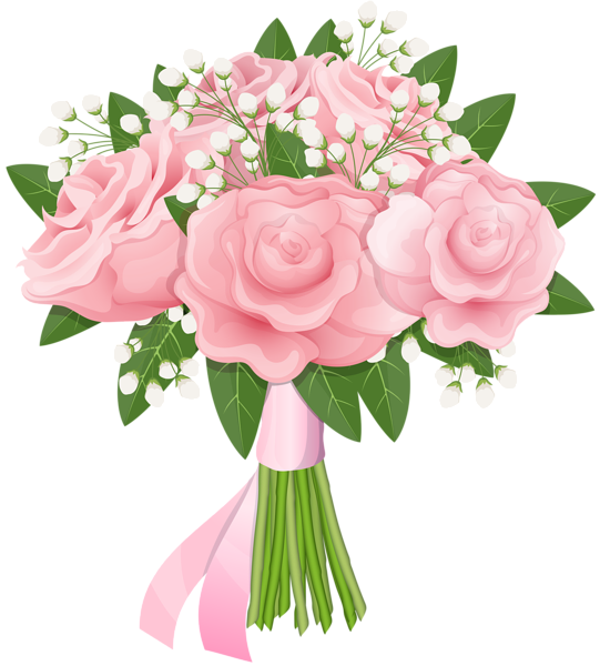 Flower bouquet images clipart jpg free download Pink Rose Bouquet Free PNG Clip Art Image | Gallery Yopriceville ... jpg free download