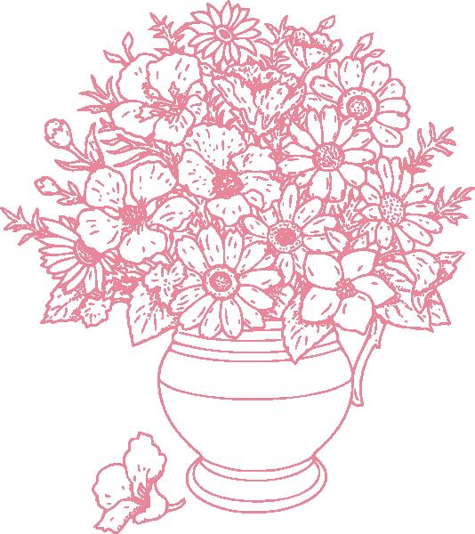 Flower bouquet outline clipart png freeuse stock Bouquet Of Flowers Clip Art at Clker.com - vector clip art online ... png freeuse stock