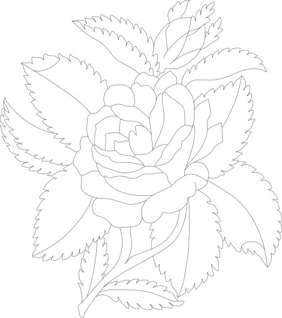 Flower bouquet outline clipart clip library library Free Rose Clipart, Animations and Vectors clip library library