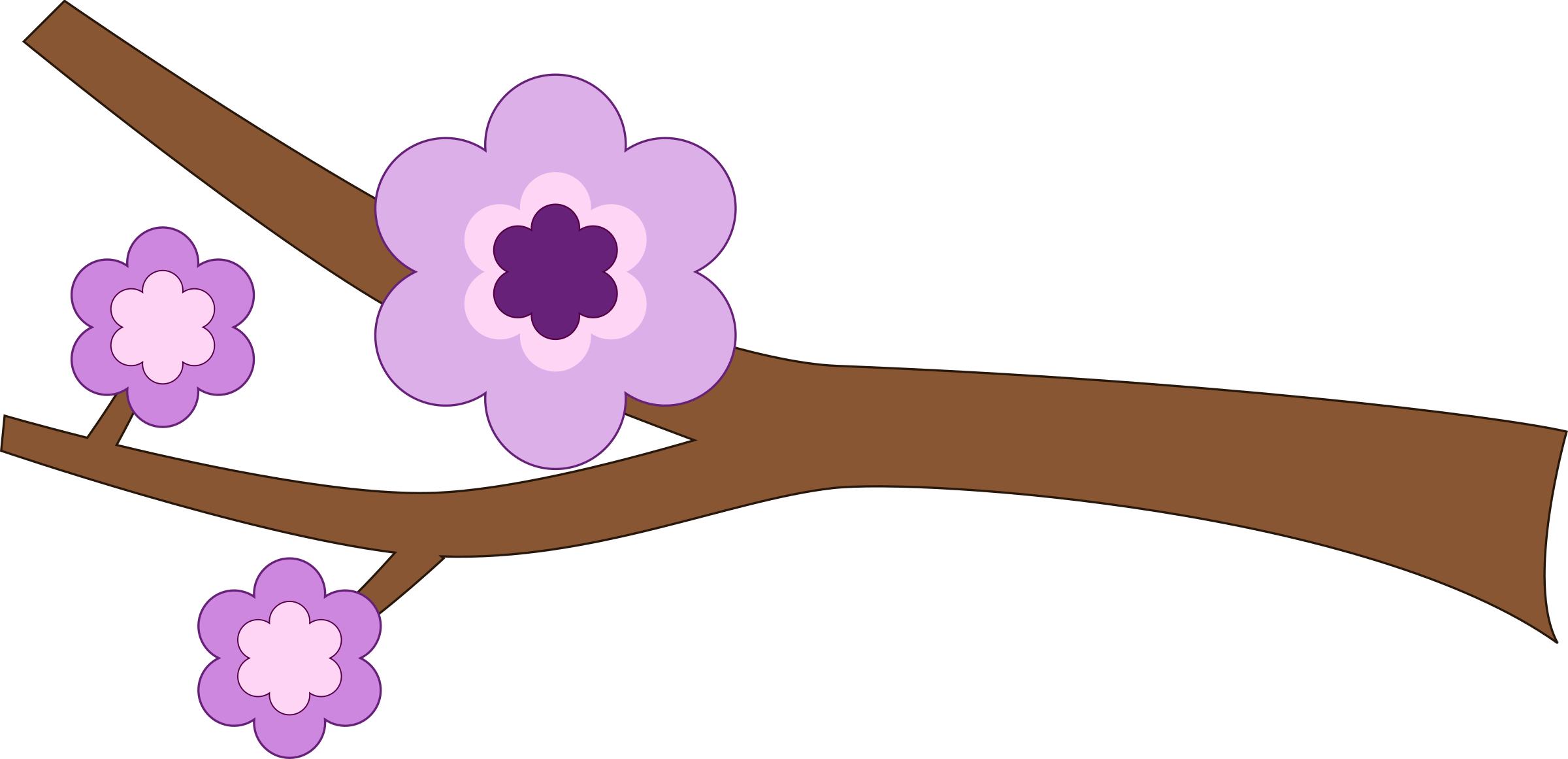 Flower branches clipart graphic royalty free Clipart - Purple Flower Longer branch graphic royalty free
