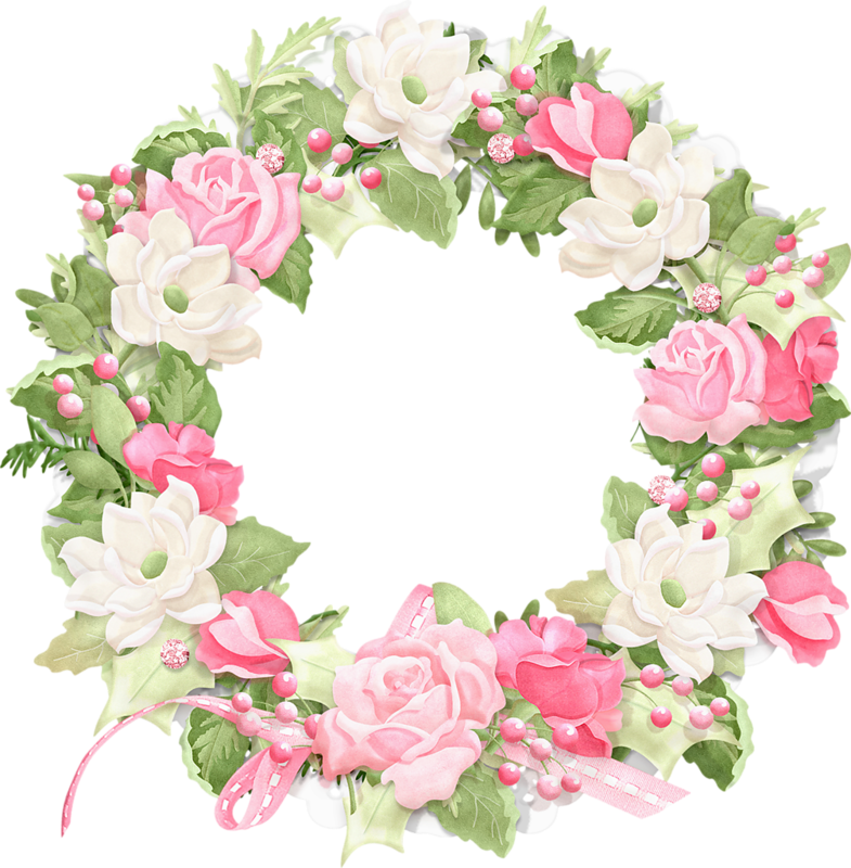 Flower wreath clipart free black and white library Nitwit_HolidayBouquet-Bundle (40).png | Pinterest | Decoupage ... black and white library