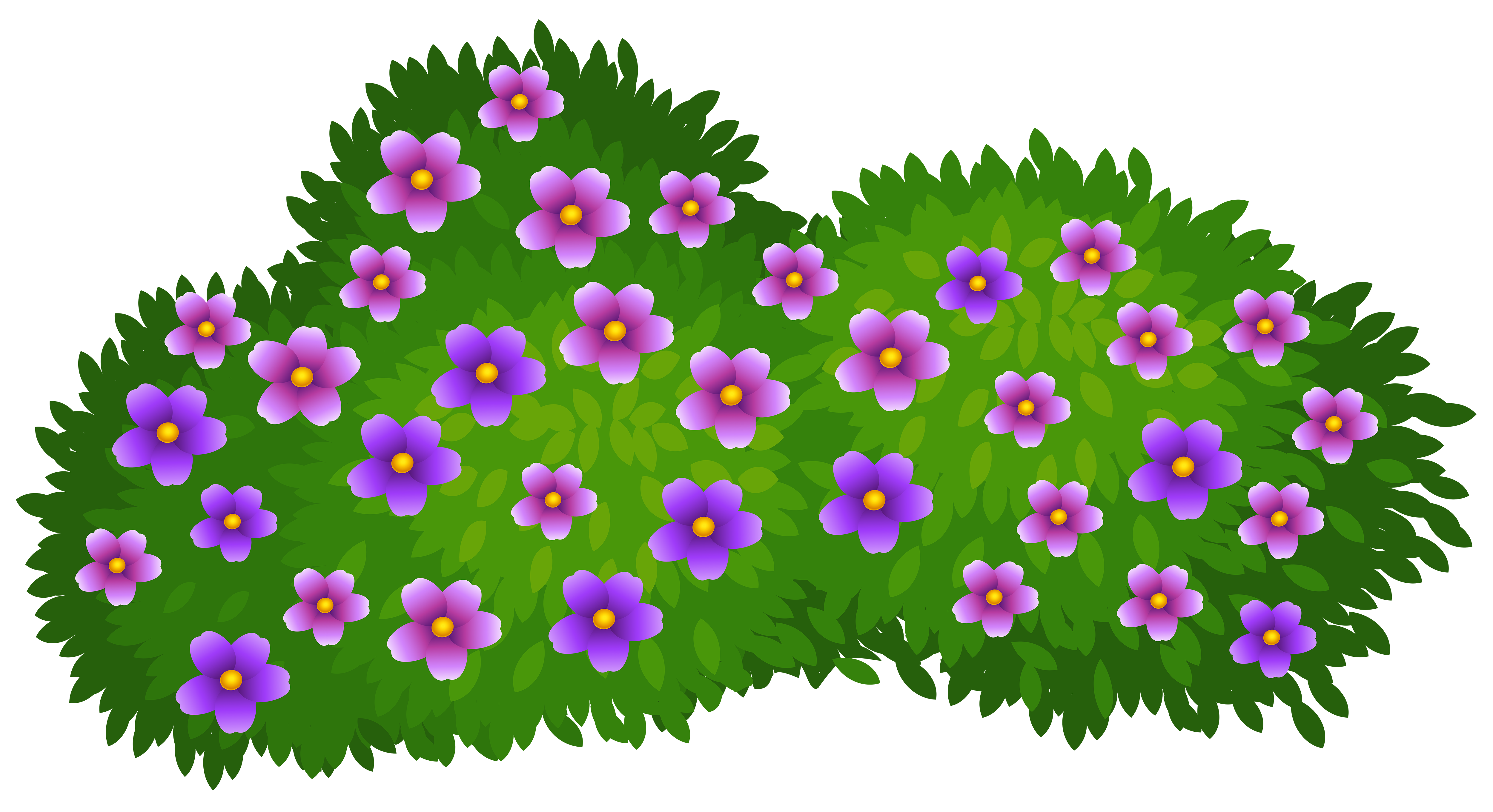 Flower bush clipart vector library stock Green Bush with Flowers Transparent PNG Clip Art Image   Gallery ... vector library stock