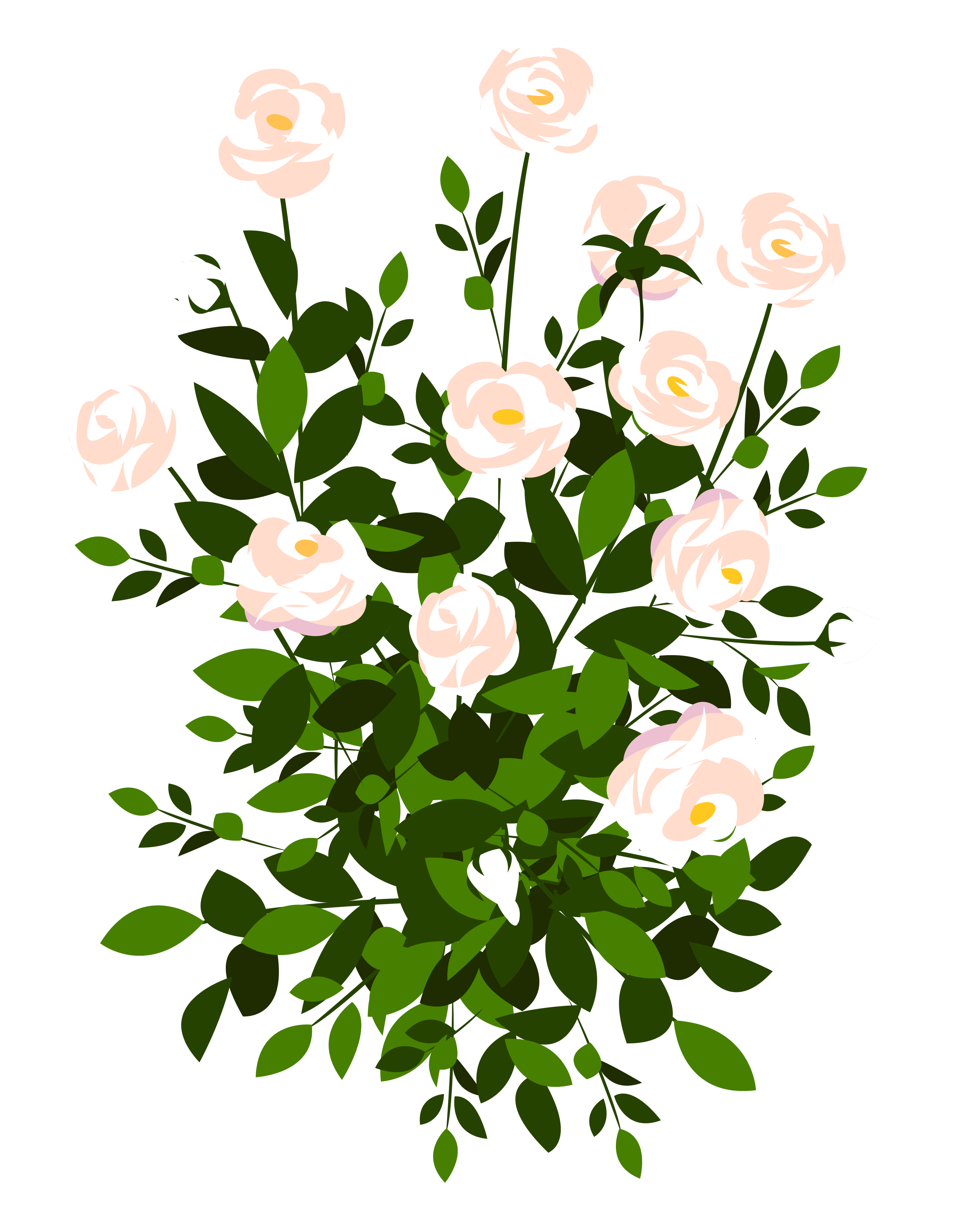 Flower bush clipart png library Whte Rose Bush PNG Clipart Picture   Gallery Yopriceville - High ... png library