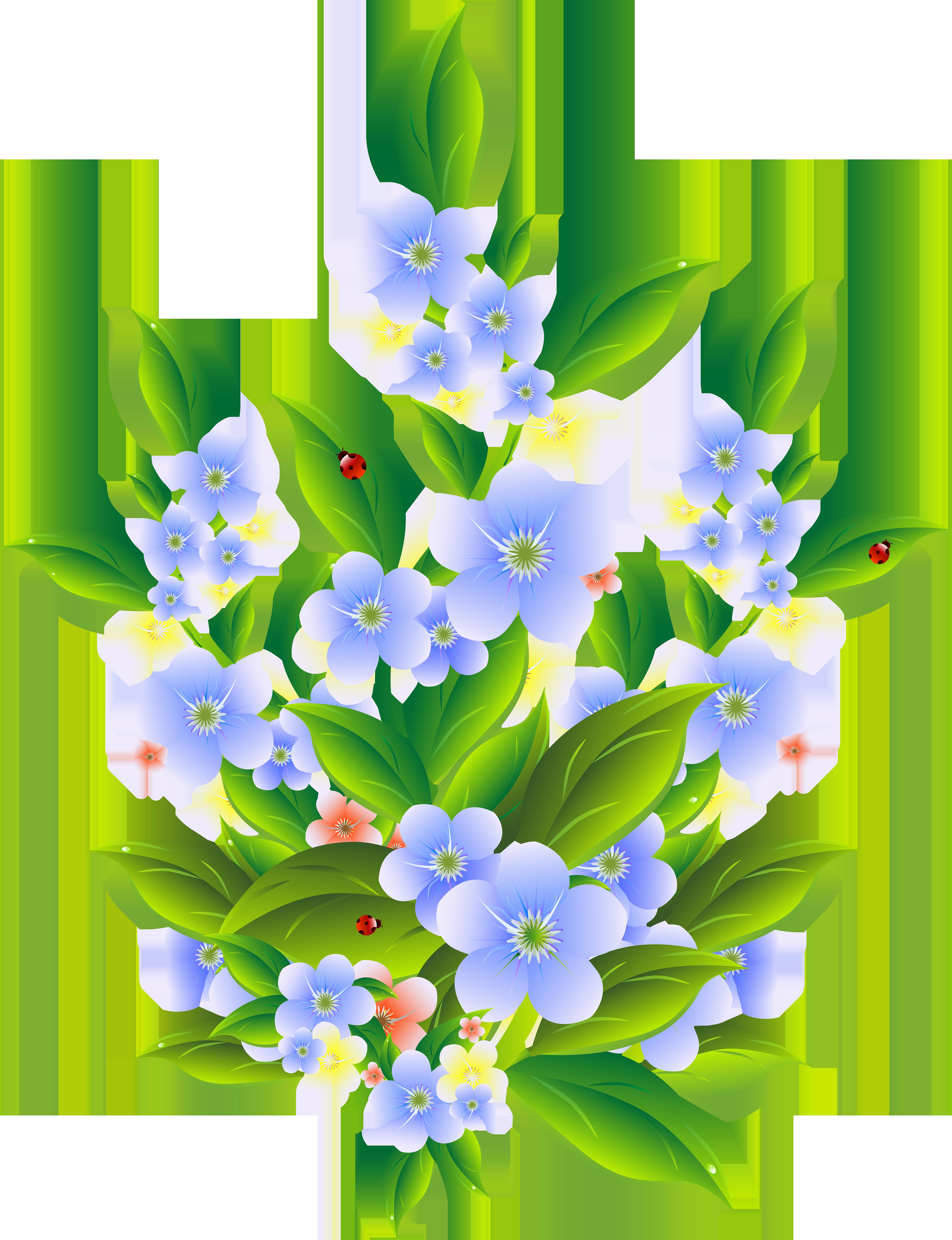 Flower bush clipart picture freeuse Floral Bush Decoration Transparent Clip Art PNG Image   Gallery ... picture freeuse