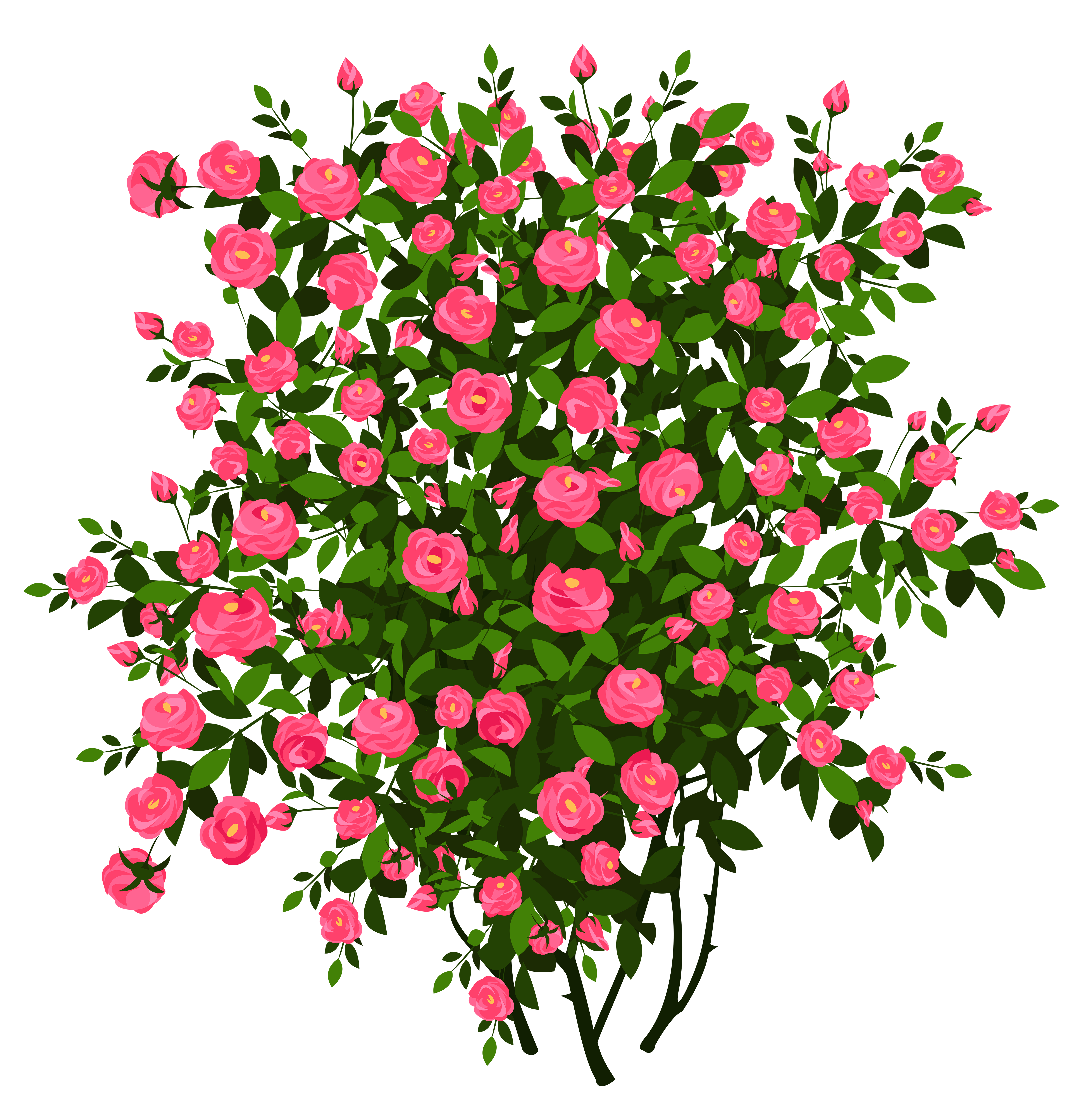 Flower bush clipart clip art black and white library Pink Rose Bush PNG Clipart Picture   Gallery Yopriceville - High ... clip art black and white library