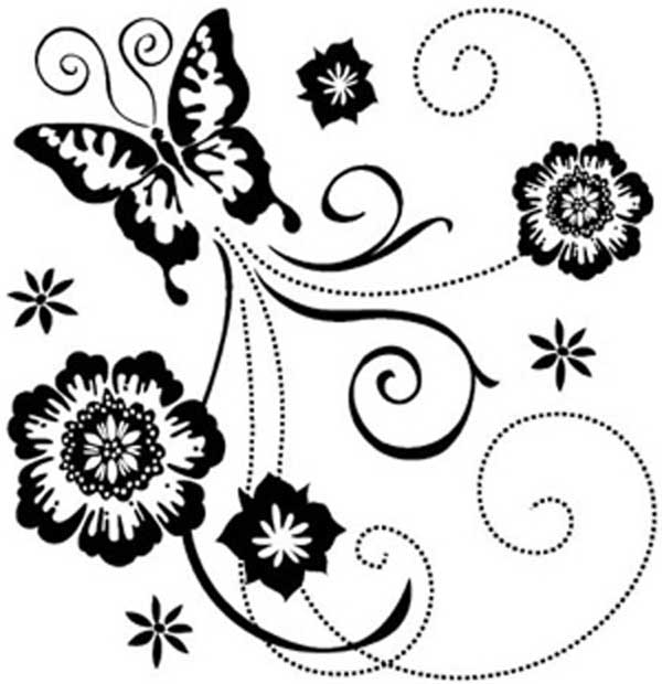 Flower butterflies clipart black and white border picture library stock Free Border Design Black And White Butterfly, Download Free Clip Art ... picture library stock
