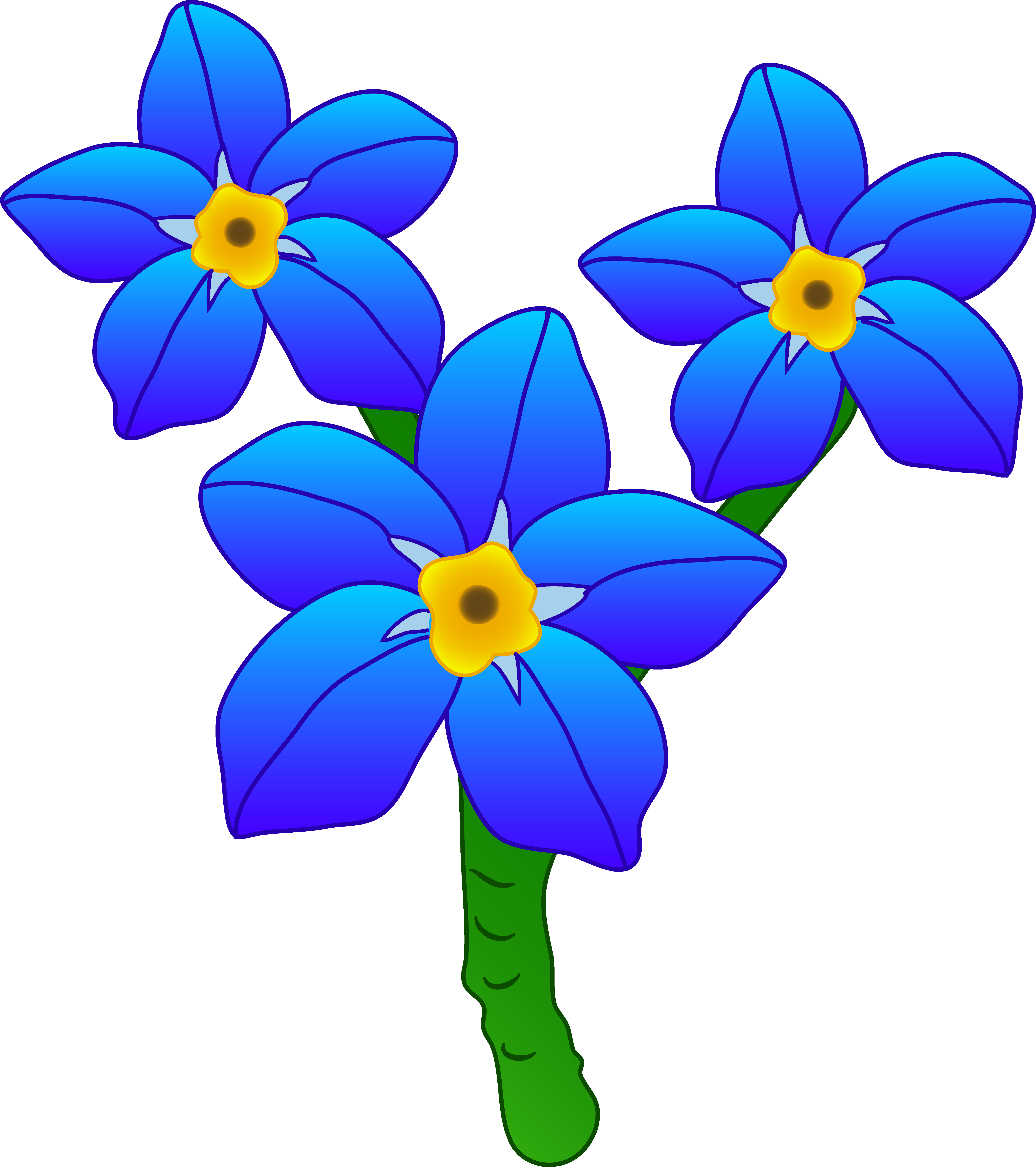 Weird flower clipart svg royalty free library Proven Flower Cartoon Pictures Clip Art Three Forget Me Not Flowers ... svg royalty free library