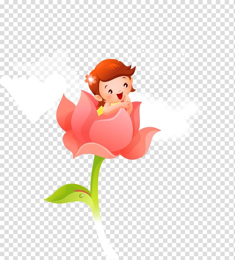 Flower children clipart image free download Child Cartoon Flower, Children\\\'s cartoon hand-painted flower child ... image free download