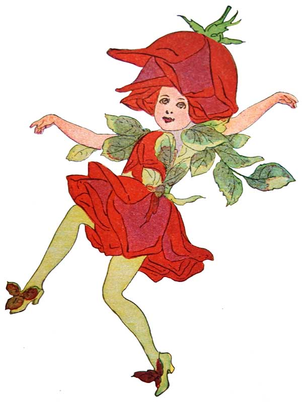 Flower children clipart vector library Whimsical Red Rose Flower Children Print from 1910 @ Vintage Fangirl ... vector library