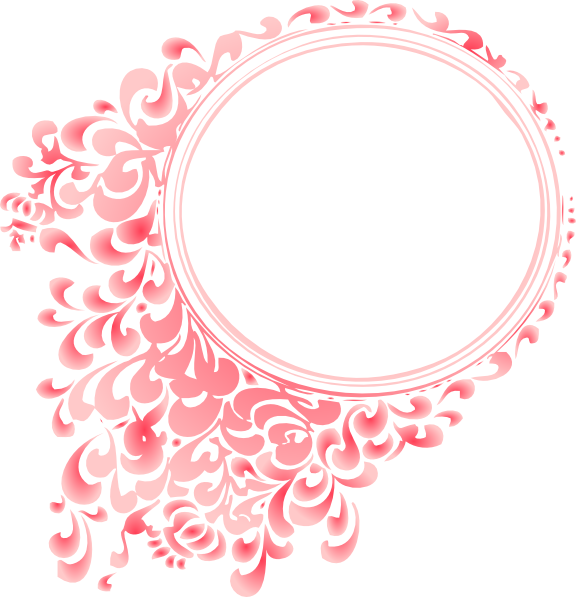 Flower circle border clipart svg library download Pink Radial Gradient Circle Border Clip Art at Clker.com - vector ... svg library download
