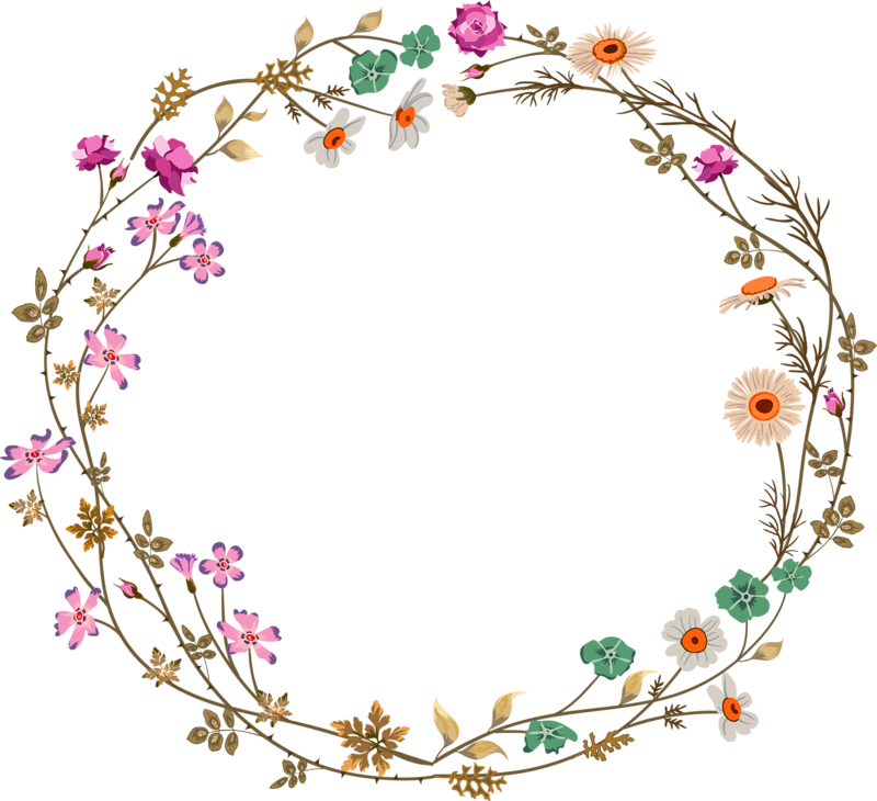 Flower circle border clipart vector free stock Colorful simplicity flower vine circle border texture 800*730 ... vector free stock