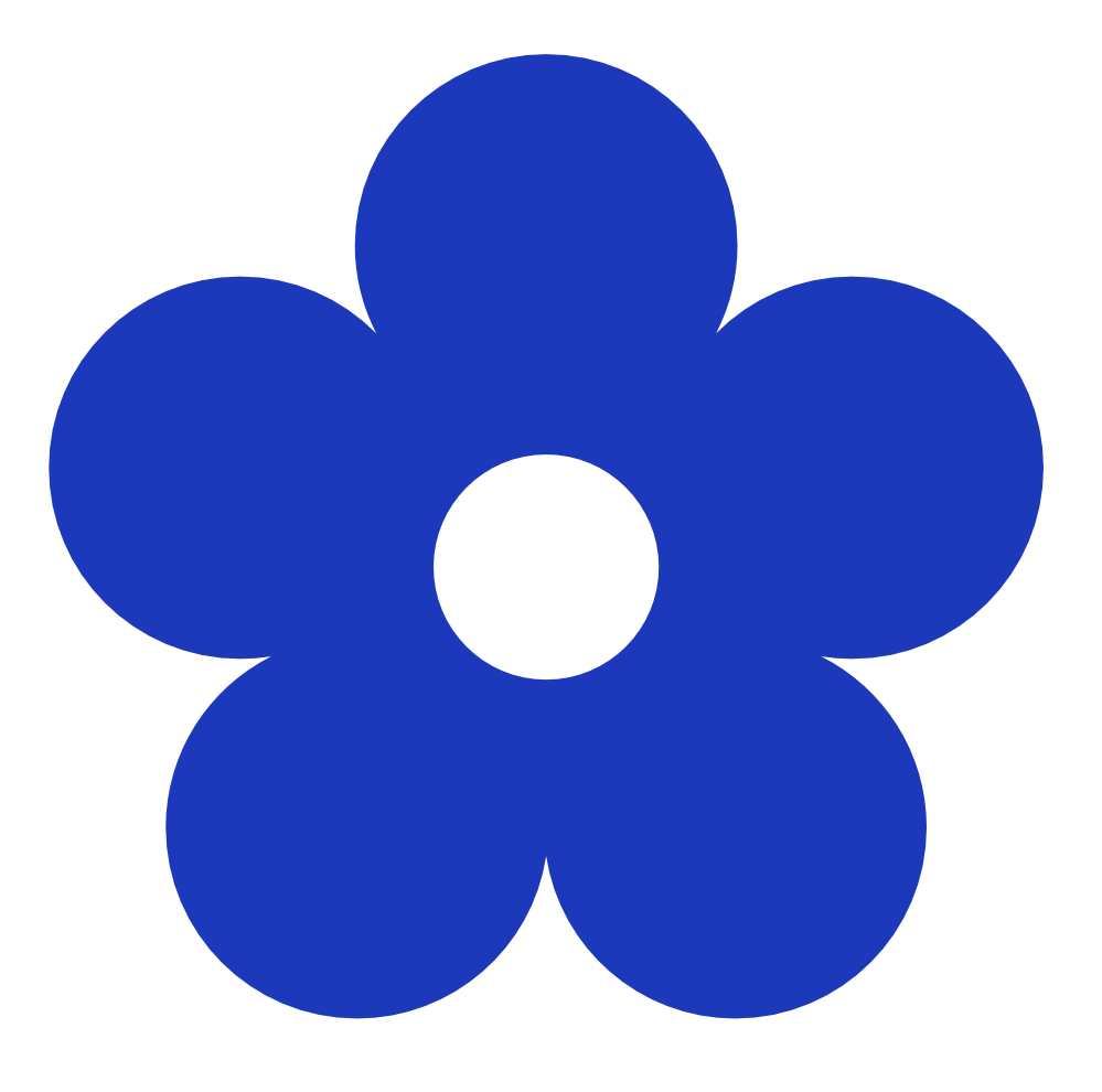 Flower clip art png black and white library Blue Flower Clipart & Blue Flower Clip Art Images - ClipartALL.com black and white library