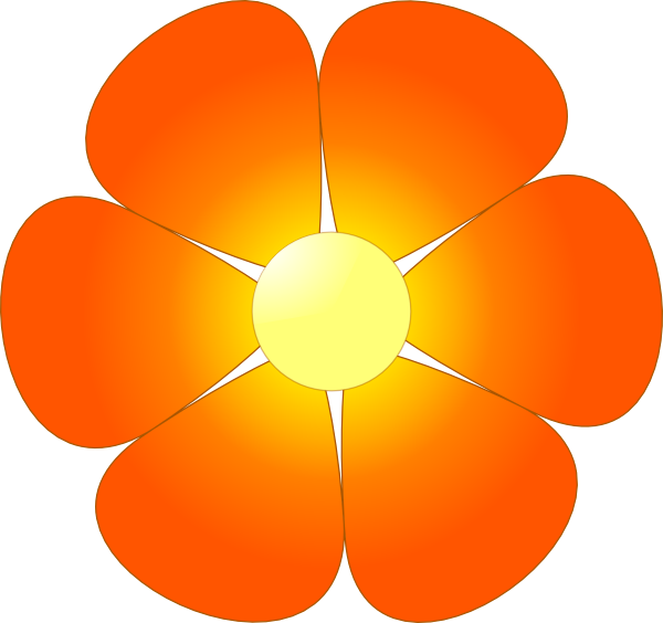 Flower clipart orange clip art free Orange Flower Clip Art at Clker.com - vector clip art online ... clip art free