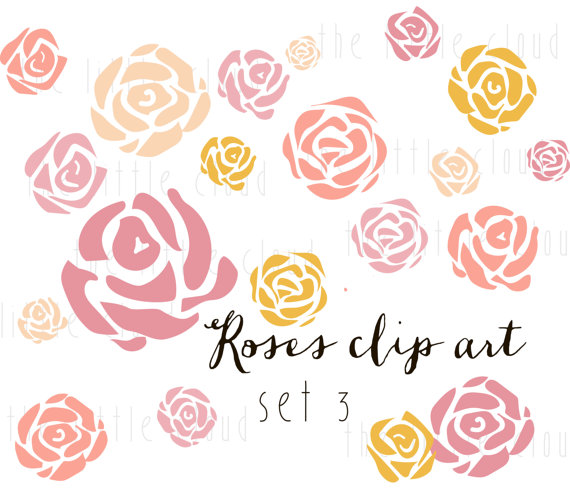Flower clipart 60 png image transparent download 20 ROSES Flower Clip Art vector and png by Thelittleclouddd image transparent download