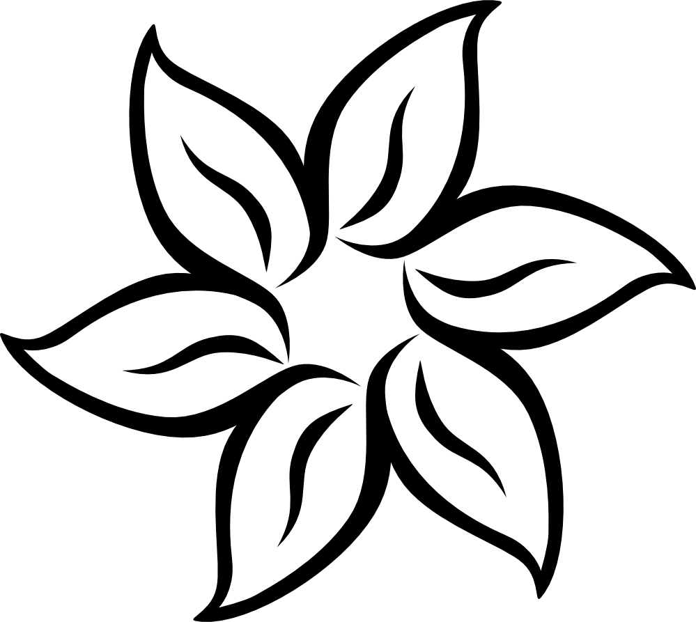 Flower clipart black and white png picture royalty free download Black and white flower png #41809 - Free Icons and PNG Backgrounds picture royalty free download