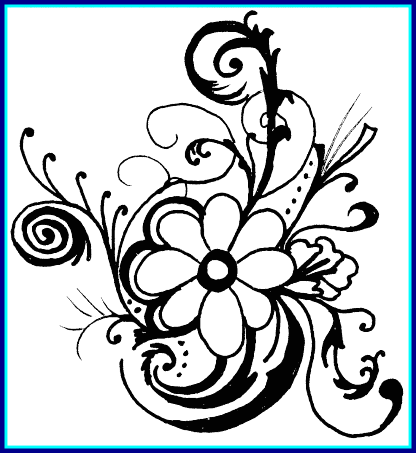 Rose flower clipart black and white svg library library Best Pin By Vdm On Drawing Skiilles Clip Art Picture Of Bouquet ... svg library library