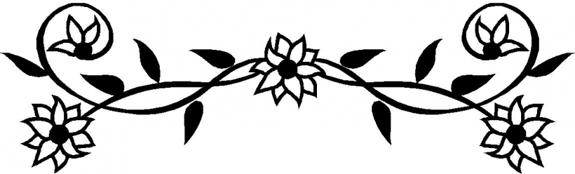 Flower clipart black png clipart black and white black and white flower border clipart clipart panda free clipart black and white
