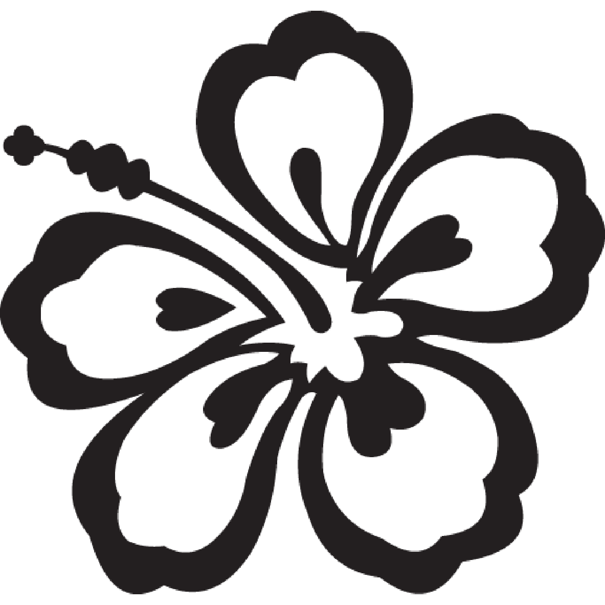 Flower clipart black png clipart free stock Black And White Flower Clipart - Clipart Kid clipart free stock