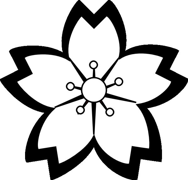 Flower black and white clipart images jpg black and white Sakura Flower Clipart Png | Clipart Panda - Free Clipart Images jpg black and white