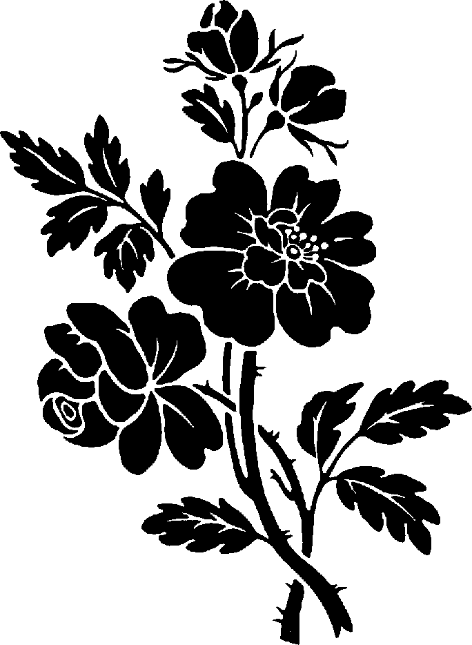 Flower clipart black png svg library library Flower clipart black png - ClipartFest svg library library