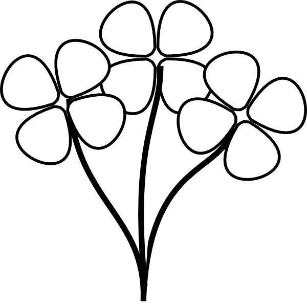 Flower stem black and white clipart jpg free Flower Clipart Black And White Free & Flower Black And White Clip ... jpg free