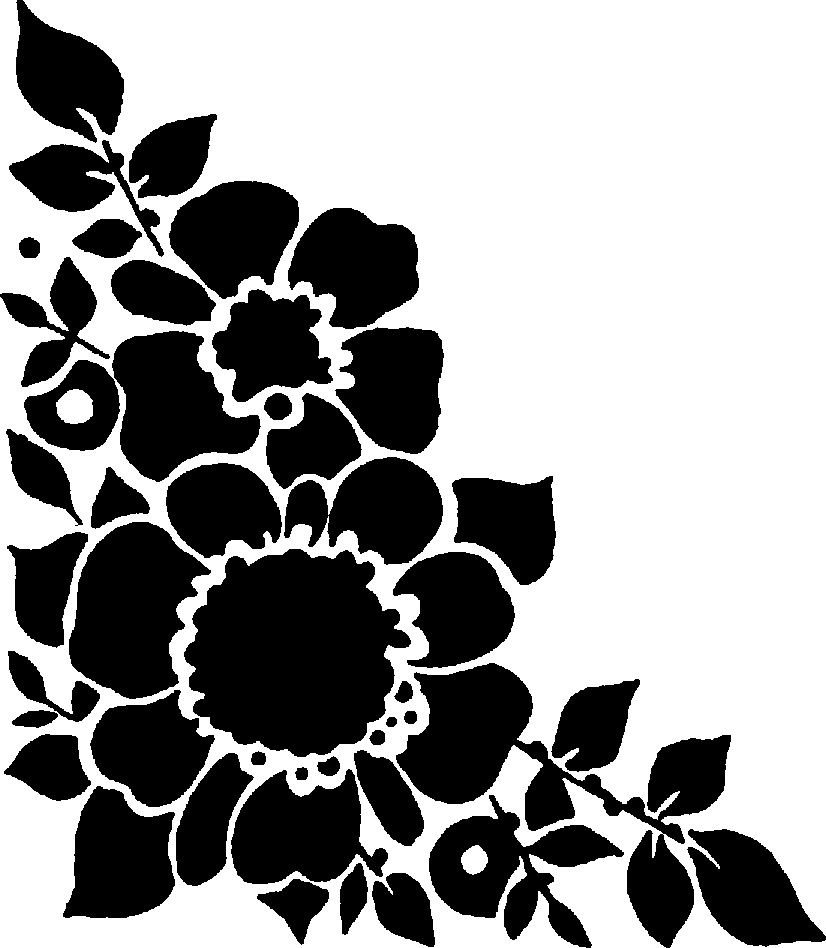 Flower clipart black png clip art library library Flower clipart black png - ClipartFox clip art library library