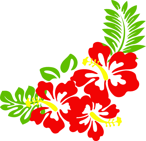 Hawiian flower clipart clipart black and white library Hawaiian Flower Clip Art Borders | Clipart Panda - Free Clipart ... clipart black and white library
