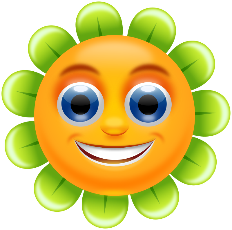 Happy face flower clipart graphic library library Flower With A Face | Free download best Flower With A Face on ... graphic library library