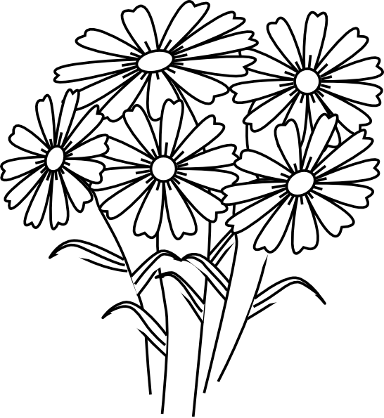 Flower clipart coloring clip art free stock Coloring Book Flowers Clip Art at Clker.com - vector clip art online ... clip art free stock
