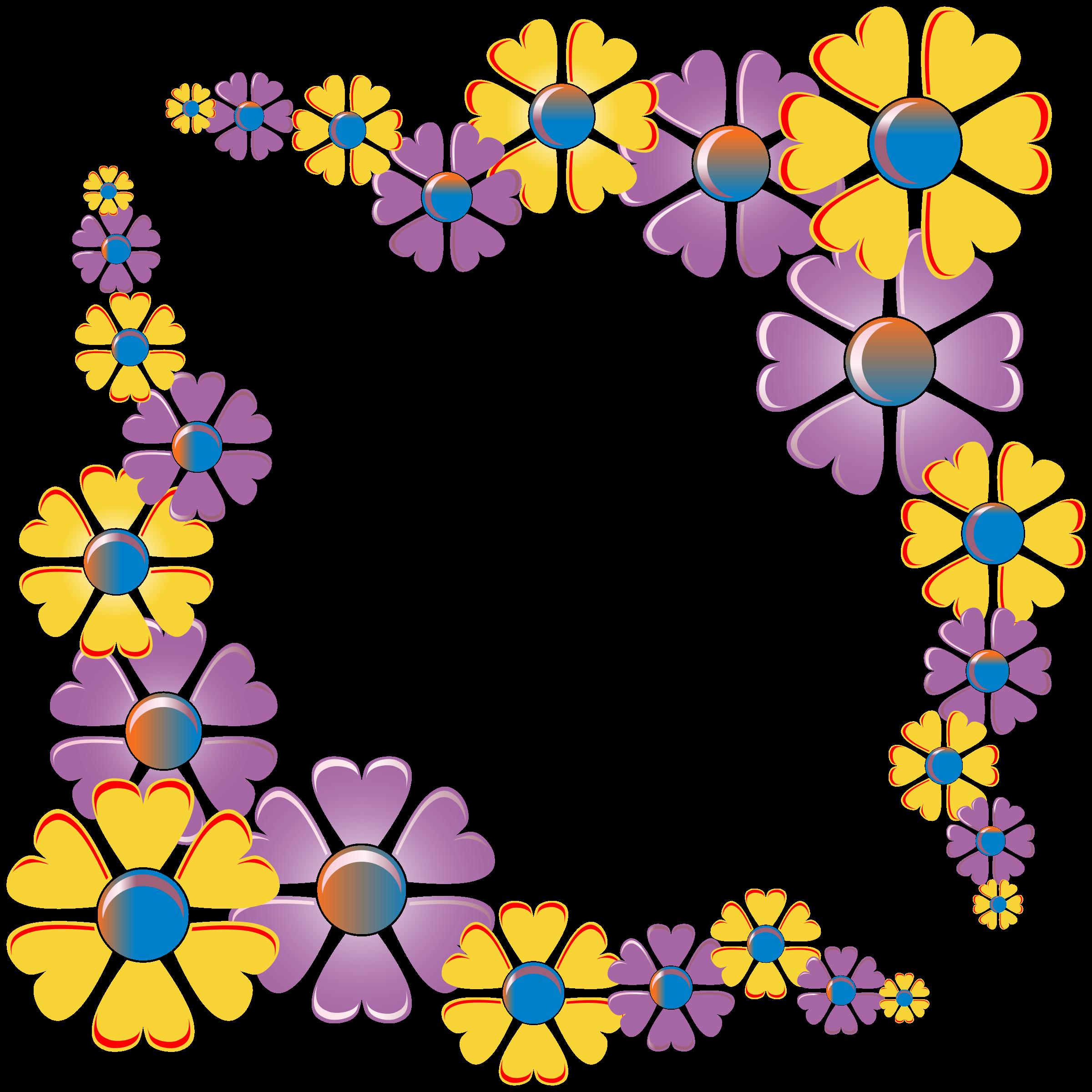 Flower corner clipart. Variation frame big image