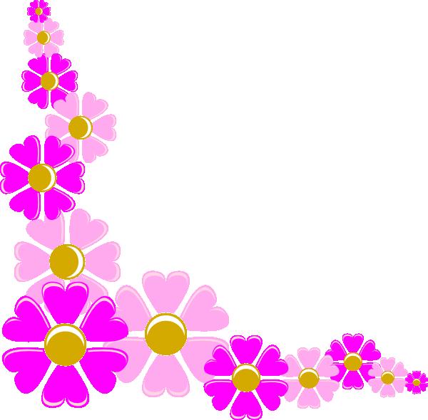 Floral decorative clip art. Flower corner clipart